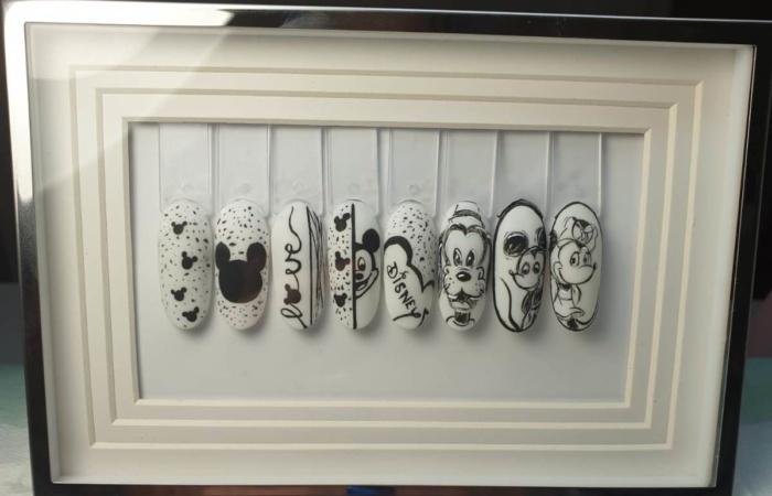 Ongles - manucure - vernis - nail art - sur support - Disney