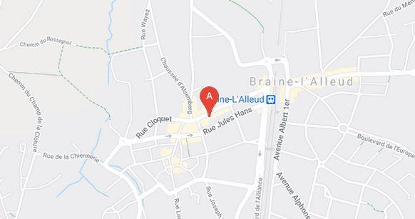 plan avenue Léon Jourez 14, 1420 Braine l'Alleud - Scarlett The Beauty Centre